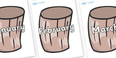 Months of the Year on Drums