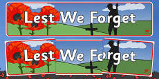 Australia - Anzac Day Lest We Forget Display Banner