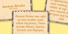Amazing Ancient Greece Display Fact Cards