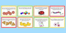 Addition and Subtraction Word Problems Challenge Cards