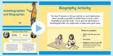 Autobiography and Biography PowerPoint