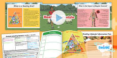 PlanIt - Science Year 6 - Animals Including Humans Lesson 4: Healthy Lifestyle Lesson Pack