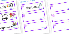 Purple Themed Editable Additional Resource Labels