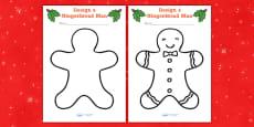 Gingerbread Man Colouring Sheets