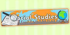 Social Studies Display Banner