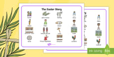 The Easter Story Word Mat