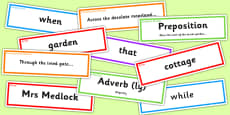 The Secret Garden Sentence Building Pack