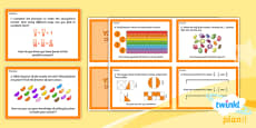 PlanIt Y3 Fractions Challenge Cards