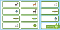 The Three Billy Goats Gruff editable Drawer, Peg, Name Labels
