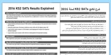 2016 KS2 Sats Results Explained Adult Guidance Arabic Translation