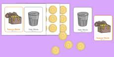 Editable Buried Treasure Phonics Game