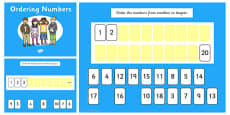 Ordering Numbers 0-10 and 0-20 Flipchart