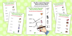 The Elves and the Shoemaker Word and Picture Match