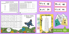 * NEW * 4 Times Table Resource Pack