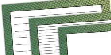 Snake Pattern Landscape Page Border