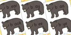 b Sound And Vowel Animal Jigsaw