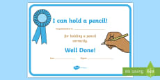 I Can Hold a Pencil Certificates