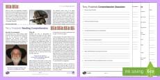 Terry Pratchett Differentiated Reading Comprehension Activity