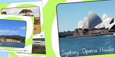 Australia - Famous Australian Landmarks Photo Display Posters