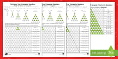 Christmas Tree Triangular Numbers Differentiated Maths Activity English/Romanian