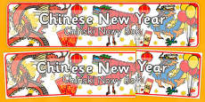 Chinese New Year Display Banner Polish Translation