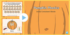 Pumpkin Phonics Initial Blends Interactive PowerPoint