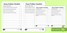 Story Problem Checklist