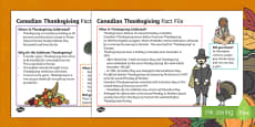 Canadian Thanksgiving Fact File
