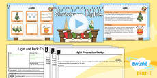 PlanIt - RE Year 2 - Light and Dark Lesson 2:  Christmas Lights (Christianity) Lesson Pack