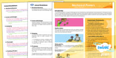 PlanIt - D&T LKS2 - Mechanical Posters Planning Overview CfE