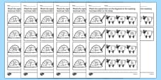 Farm Capital Letters Matching Activity Sheet