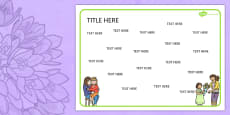Mother's Day Themed Editable Word Mat