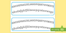 Plain Alphabet Arc Upper and Lower Case Alphabet Strips