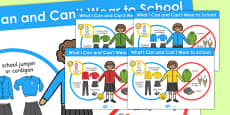 What I Can and Can't Wear to School Poster (Girls)