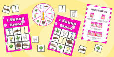 l Sound Bingo Game with Spinner