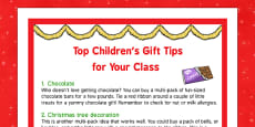 Top Children's Gift Tips for Your Class