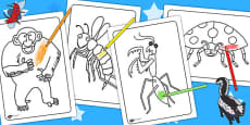 Colouring Sheets to Support Teaching on The Bad Tempered Ladybird
