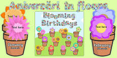 Blooming Birthdays Flower Display Pack Romanian Translation Romanian/English - Engleză / Română