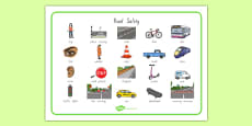 New Zealand Road Safety Word Mat