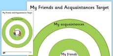 KS3 My Friends and Acquaintances Target