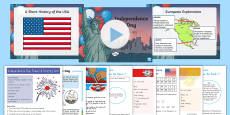 * NEW * Independence Day Grade 3-5 Activity Pack