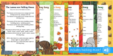 Autumn Themed Songs and Rhymes Resource Pack