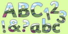 Camping Tent Themed Display Lettering