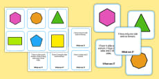 2D Shape Matching Cards