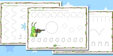 The Ant and the Grasshopper Pencil Control Sheets