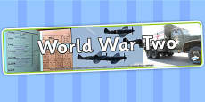 World War Two Display Banner