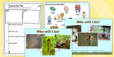 Animals Grow Can You Guess Who I Will Grow Up to Be PowerPoint Teaching Pack