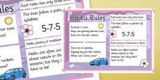 Haiku Rules Poster
