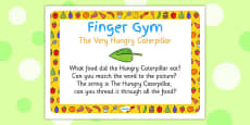 Finger Gym Prompt Card to Support Teaching on The Very Hungry Caterpillar