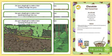 Playdough Recipe and Mat Pack to Support Teaching on Bear Hunt
